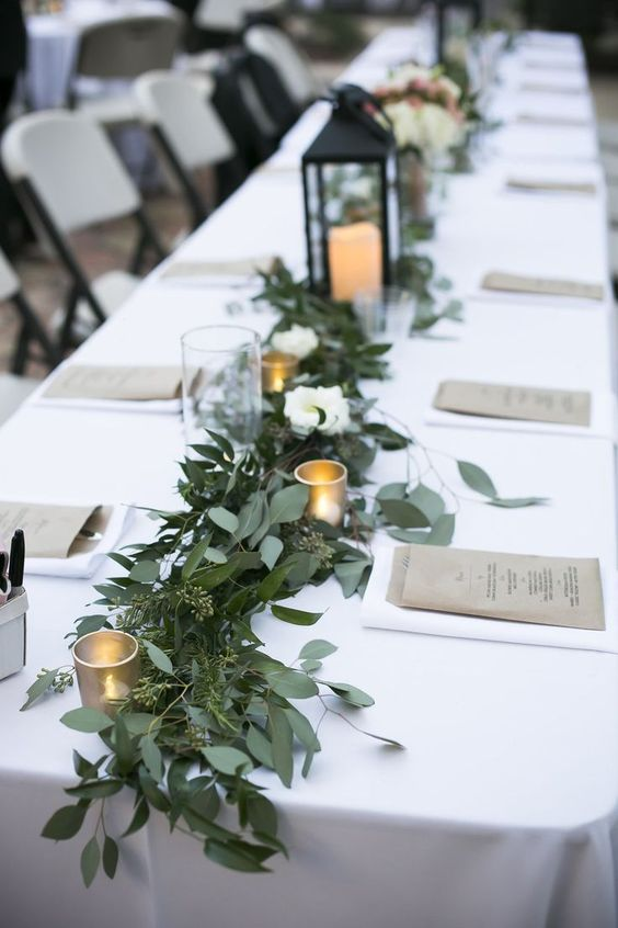 greenery table